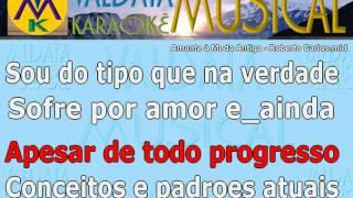 Amante à Moda Antiga Roberto Carlos - karaoke