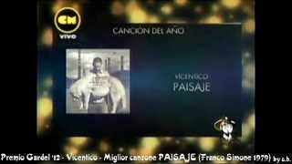 Premio Gardel 2012 Vicentico - PAISAJE - autore © Franco Simone 1979