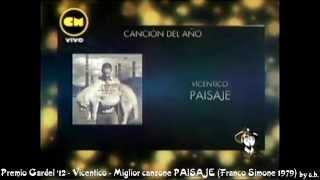 Premio Gardel 2012 Vicentico - PAISAJE - Franco Simone 1979