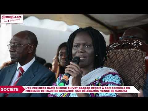 Simone Gbagbo reçoit à son domicile en présence de Guikahué, une délégation venue de Gagnoa