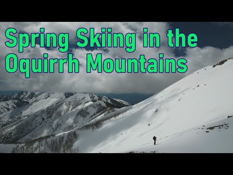 Spring Skiing in the Oquirrh Mountains