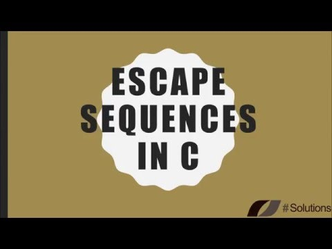 03 | Escape Sequences in C (Hindi/Urdu)