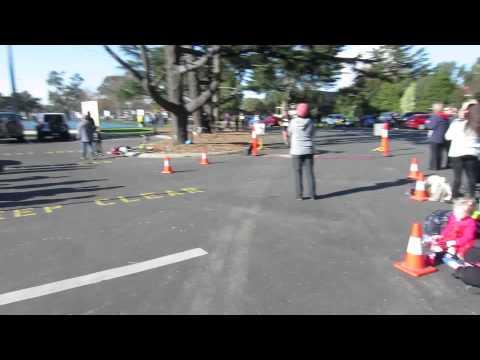 Traralgon finish line - Rachel - Half Marathon