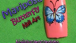 Decoracion de uñas mariposa - Butterfly Nail Art - Como Pintar una Mariposa |Nailslucerocordoba