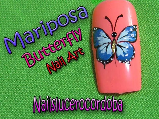 Hermosa Uñas Mariposa Arte Regalo - Ideas de Pintar de Uñas ...