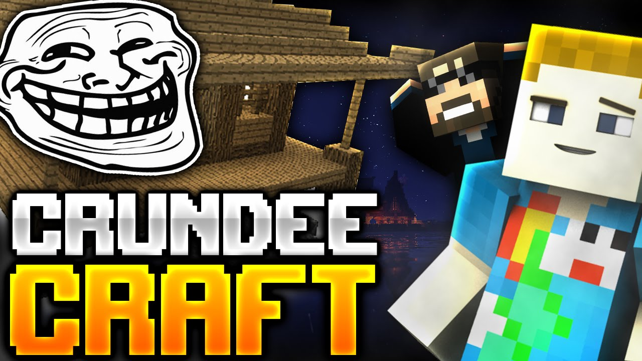 Minecraft: THE FLYING HOUSE TROLL | CRUNDEE CRAFT