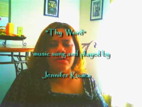 Thy word sung and played by jennifer kuaea.AVI - YouTube