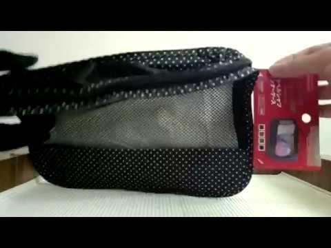 Daiso Toiletries Bag Black Youtube