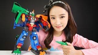 헬로카봇 로드세이버 장난감 택시 버스 3대 합체 로봇 자동차 캐리의 변신 놀이 CarrieAndToys