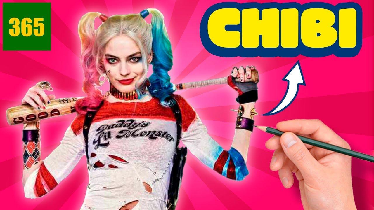 Comment Dessiner Harley Quinn Style Chibi