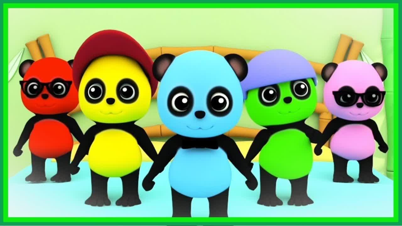 New nursery rhymes | Five Little Pandas | Nursery Rhymes ...