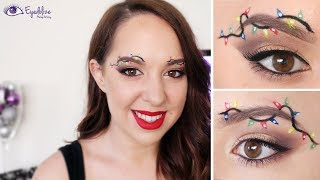 Christmas Fairy Lights Eyebrow Trend Tutorial by EyedolizeMakeup