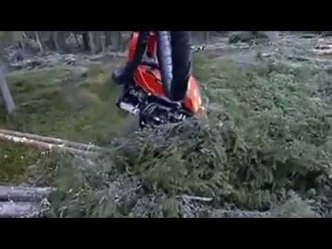 Máy khai thác gỗ komat