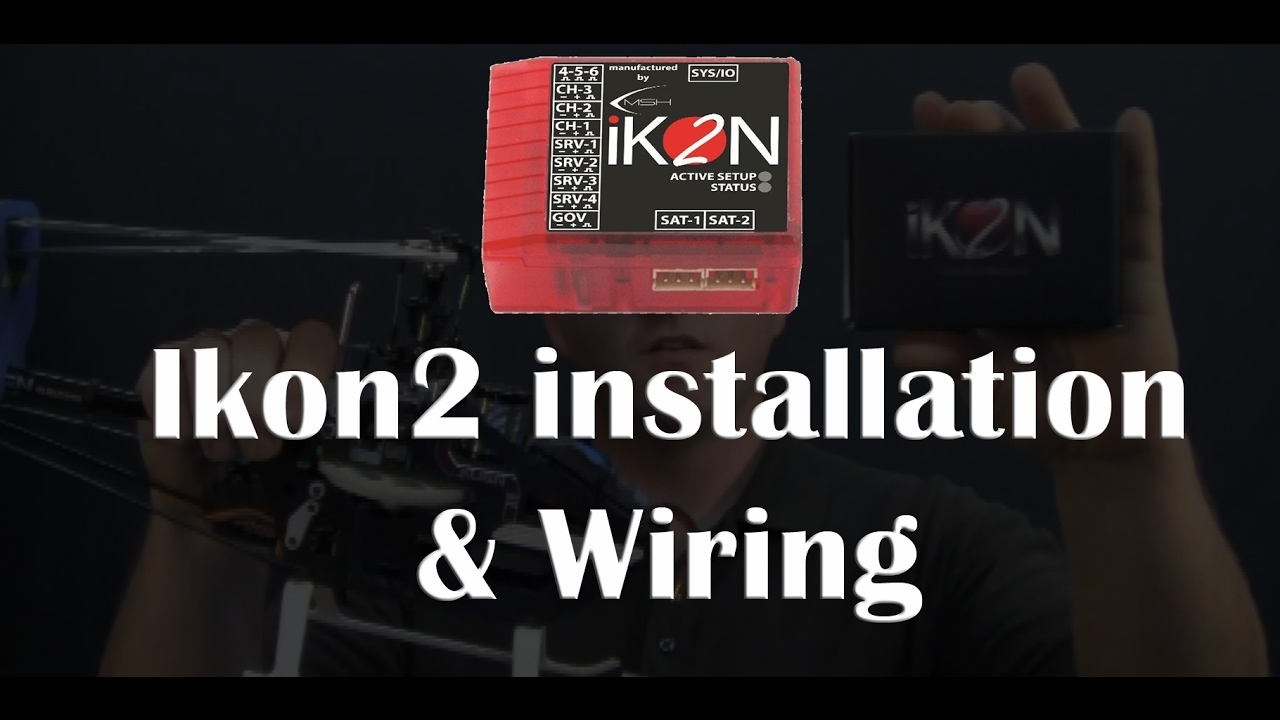 ikon2 installation wiring rchbacktobasics keeprchelisalive youtube wiring diagram edge ikon wiring diagram [ 1280 x 720 Pixel ]