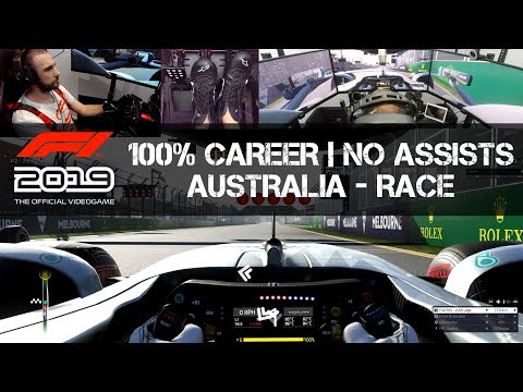 F1 2019 GAME - 100% Career - Australia - RACE (AI Level 100)