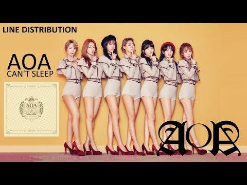 AOA - CAN'T SLEEP [Line Distribution]