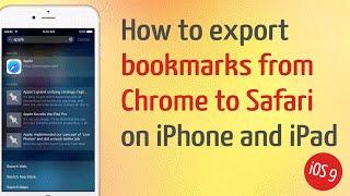 How Export Bookmarks Chrome Safari Ipad Iphone