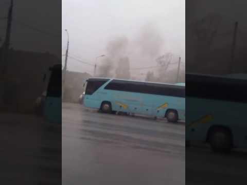 Автобус Диана-Тур загорелся в Волжском.