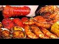 ASMR SEAFOOD BOIL 미국식 매운 해물찜 먹방 *랍스터, 새우, 꽃게, 전복 LOBSTER TAIL, SHRIMP, CRAB EATING SOUNDS MUKBANG