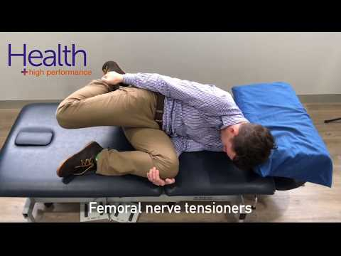 Femoral nerve stretch for knee pain | Melbourne Sports Chiropractor