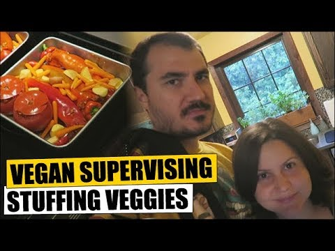 Vegan Supervises Stuffing Veggies