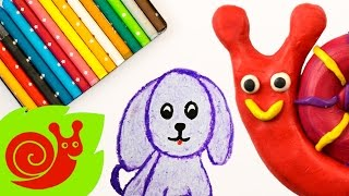 Волшебный рисунок на детском канале Улитка! Мила рисует щенка, и он оживает!
