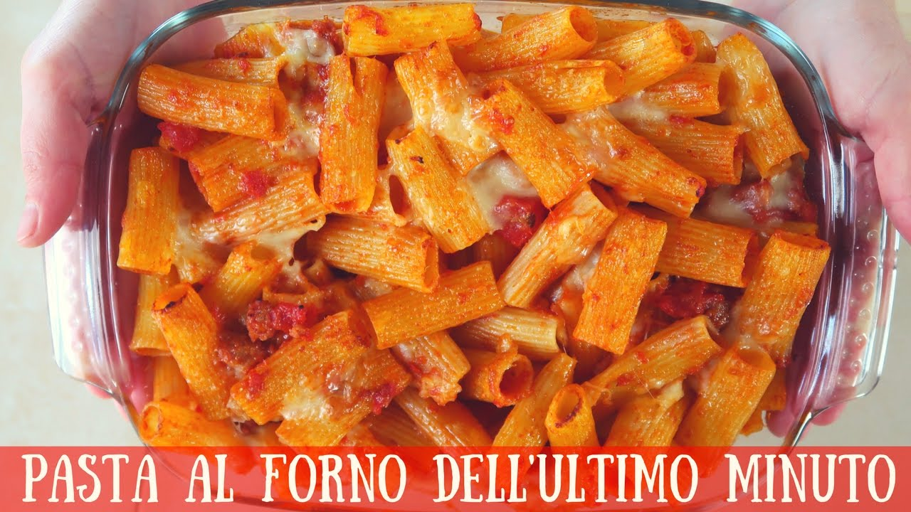 PASTA AL FORNO DELL\u0027ULTIMO MINUTO Ricetta facile , Quick and Easy Italian  Baked Pasta Recipe