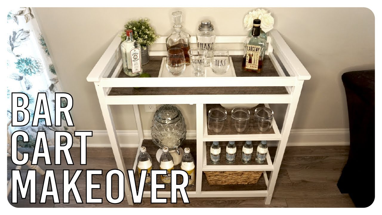 Old Changing Table Turned Bar Cart