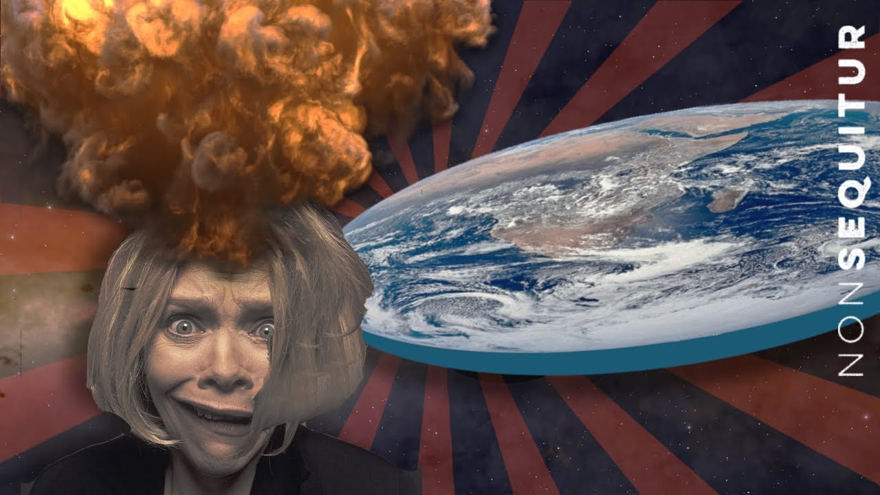 Flat Earther Debbie D. and astrophysics student Kirsten B. have a discussion.