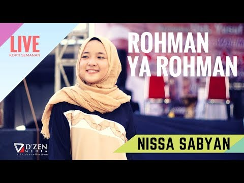 Rohman Ya Rohman - Nissa Sabyan Gambus Live Jakarta Barat