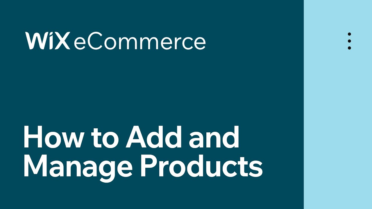 Wix eCommerce | How to Add and Manage Product Options