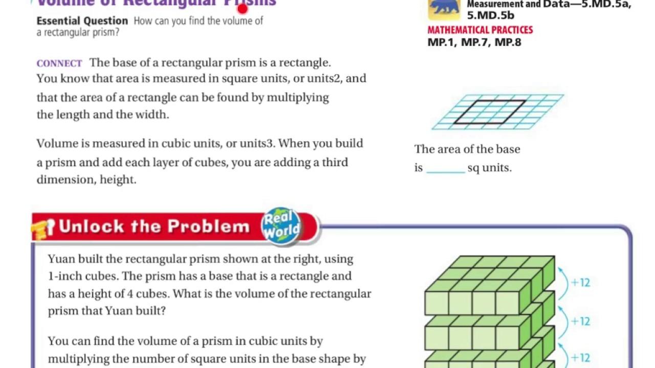 5th Grade Go Math 11.8 - YouTube