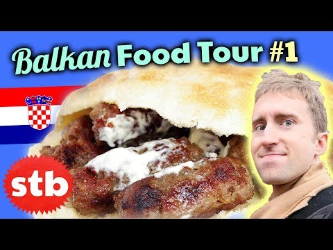 BALKAN FOOD TOUR #1: Trying Croatian Food & Cevapcici in Zagreb