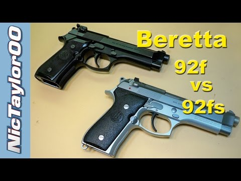 Beretta 92f vs 92fs Comparison
