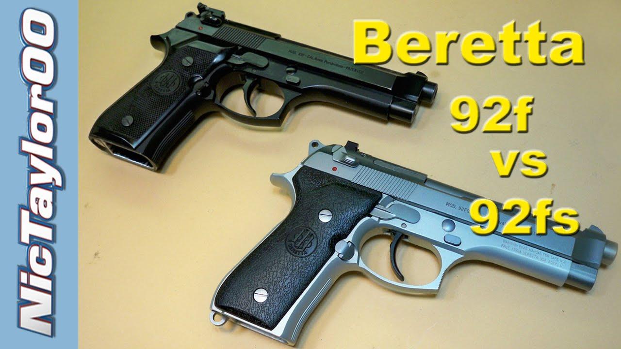 Beretta 92f vs 92fs Comparison