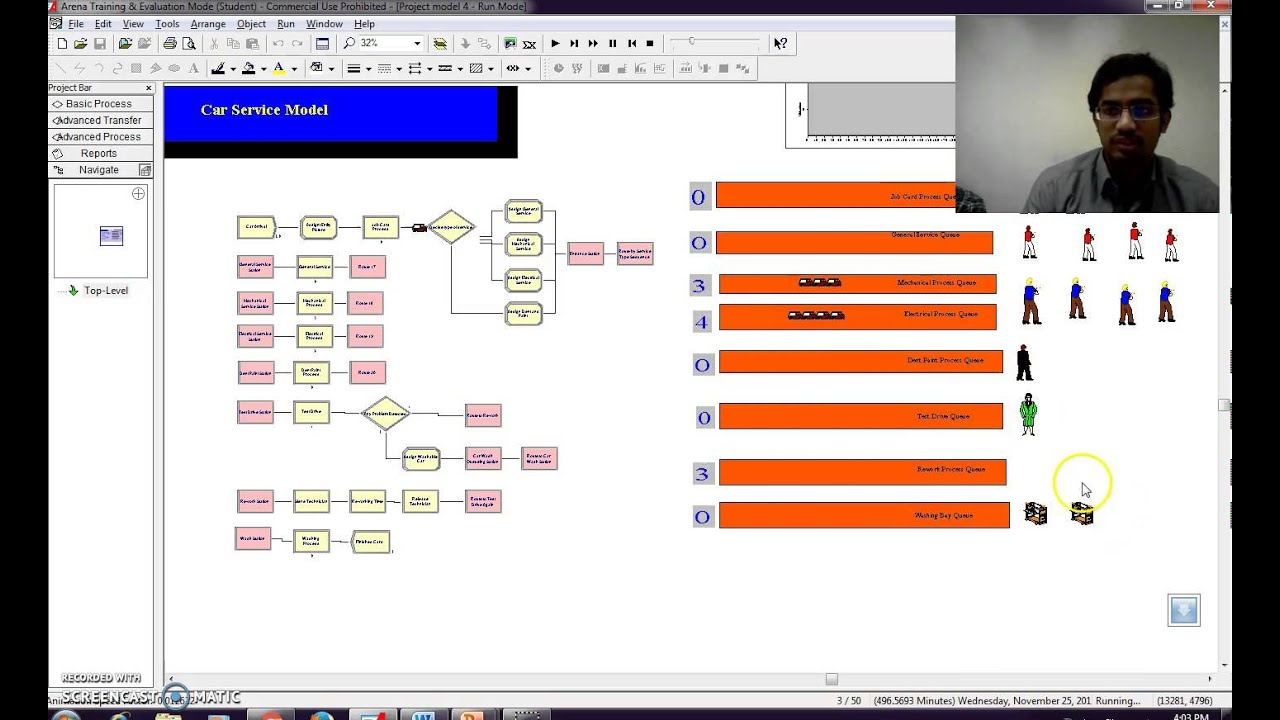 Simulation of Car Service Center Presentation Video