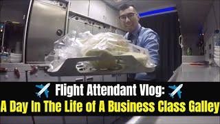 Gambar cover 777-200 Business Class Galley Working Flight Attendant