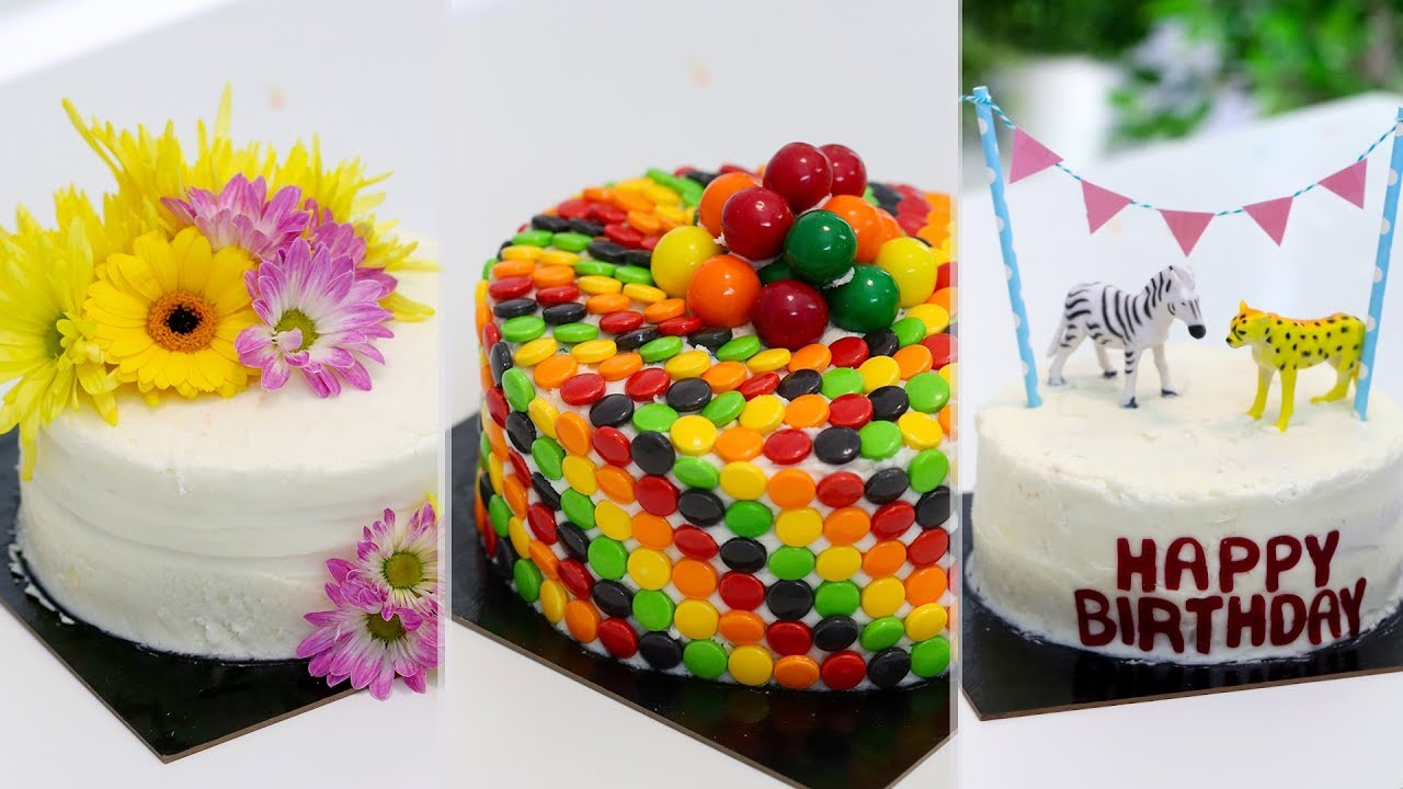 3 Ways to Transform Store Bought Cakes | EASY CAKE HACKS ...