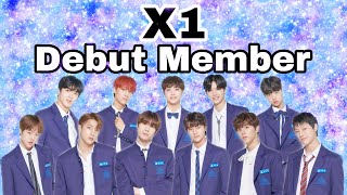 【 X1 Debut Member 】PRODUCE X 101 デビューメンバー・順位・ポジション