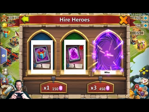 JT's Free 2 Play Hire Heroes & Win + Legendary Hero Cards Castle Clash