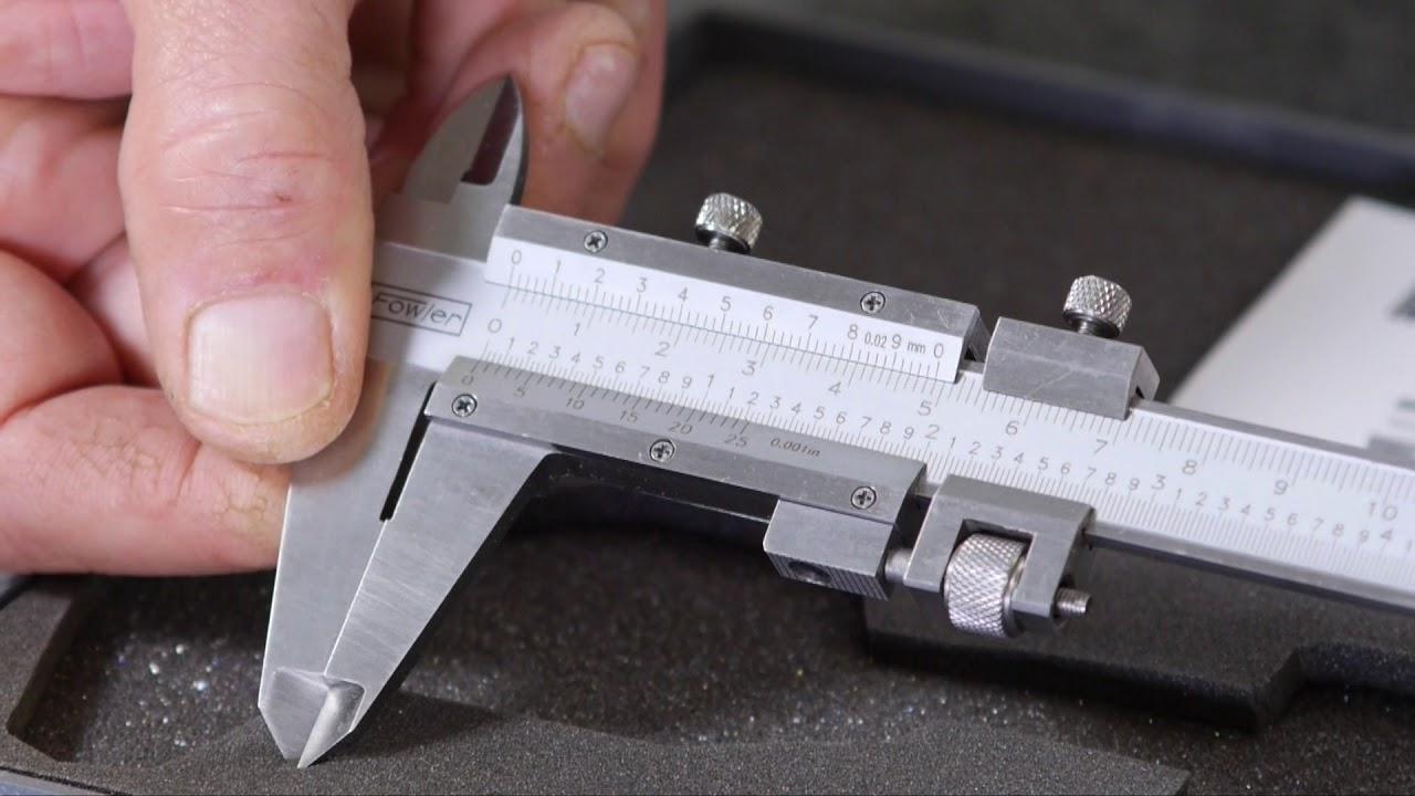Fowler 0 6 vernier caliper with fine adjustment 52 058 016 0