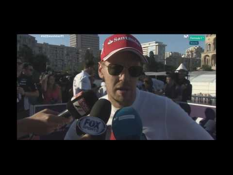 Interview Sebastian Vettel Post Qualy Baku P4  F1 2017