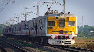 Sun kissed Shining Train   Howrah-Katwa Galloping EMU local in a Golden Afternoon   Eastern Railways