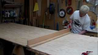 Gluing Scarf On Plywood Bottom For 17x54 Drift Boat
