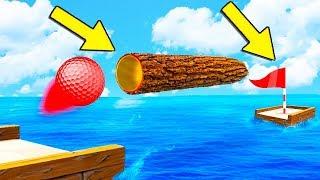 100% НЕВОЗМОЖНО ПРОЙТИ! МЕТКИЙ УДАР В САМУЮ УЗКУЮ ДЫРКУ ПРЯМИКОМ В ЛУНКУ В ГОЛЬФ ИТ (Golf It)