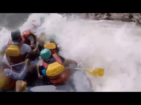 Dramatic White Water Rafting Rescue