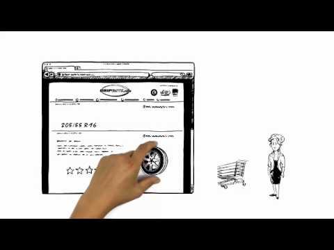 Video: Gripgate.com erklärt von Simpleshow - Entspannt Reifen kaufen mit Sorglos-Service!