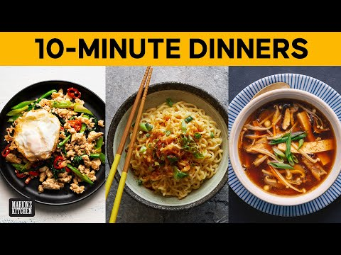 Three Asian dinners you can make in 10 MINUTES 💯 | #WithMe #quarantinecooking | Marion's Kitchen