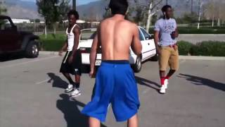Mexican vs black  fight  parking lot