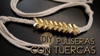 DIY: Pulseras con tuercas ♥ Thumbnail